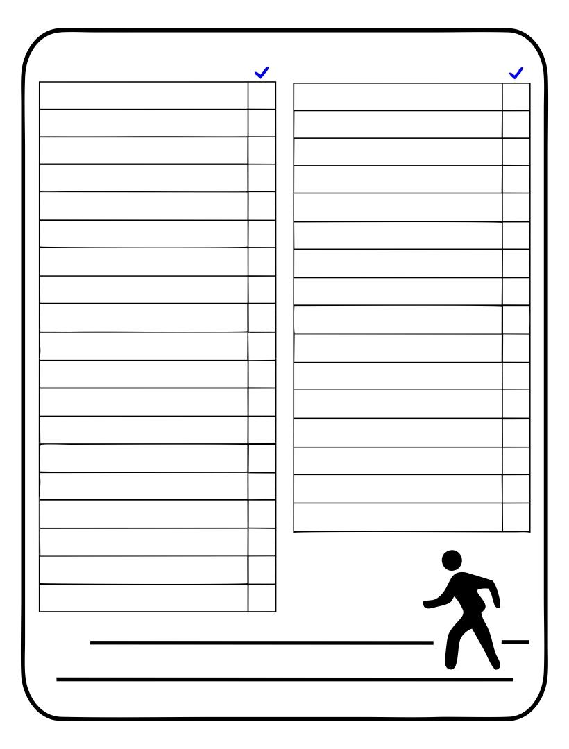 Blank Scavenger Hunt List Printable