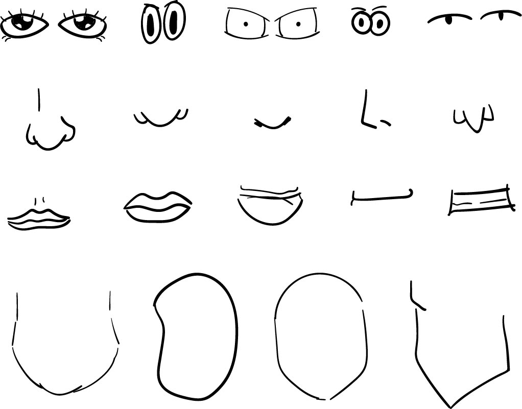 mouth template for preschool - 6 best images of printable eyes nose mouth templates