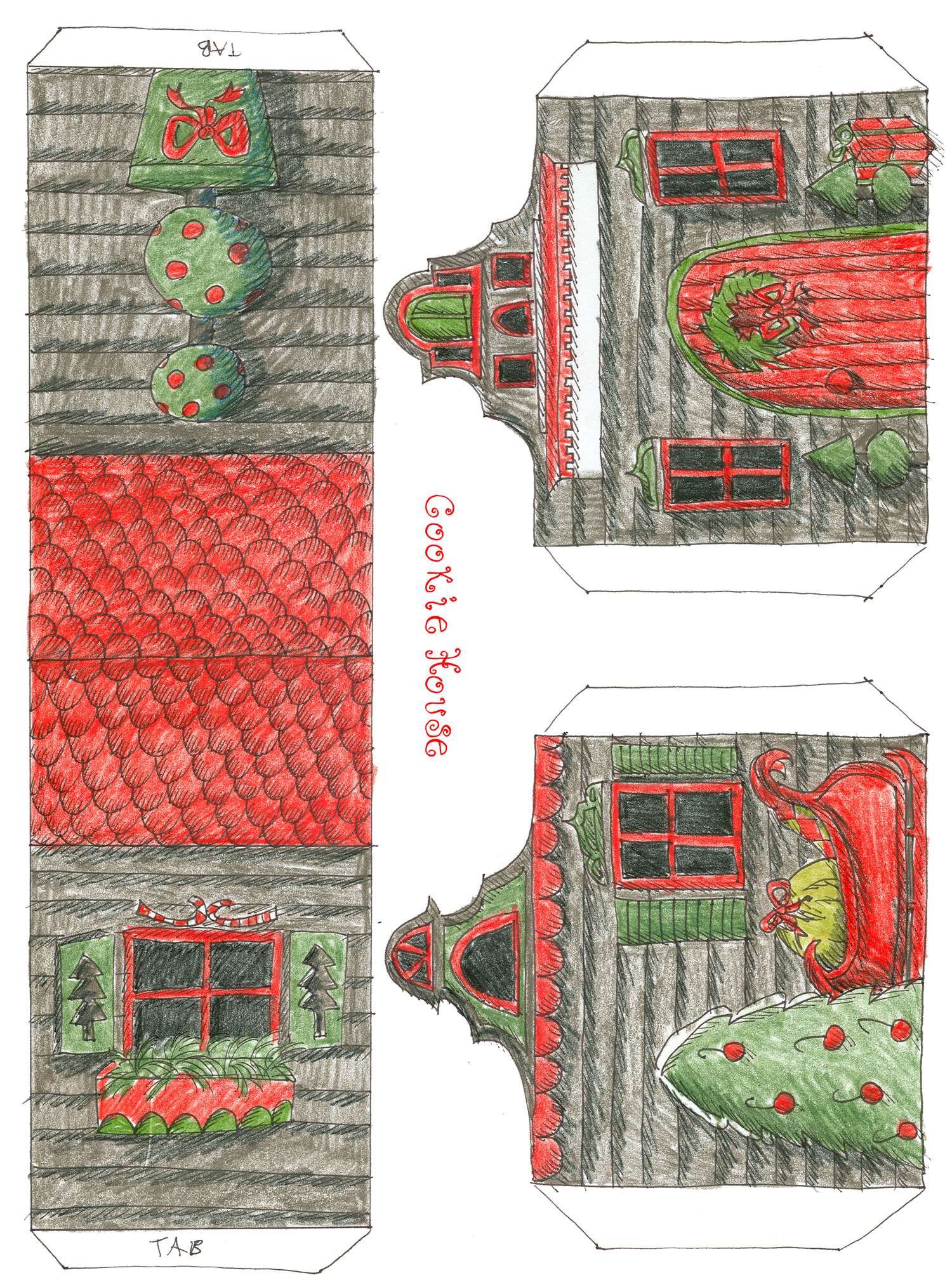 paper house templates to print - 8 best images of printable template paper doll house