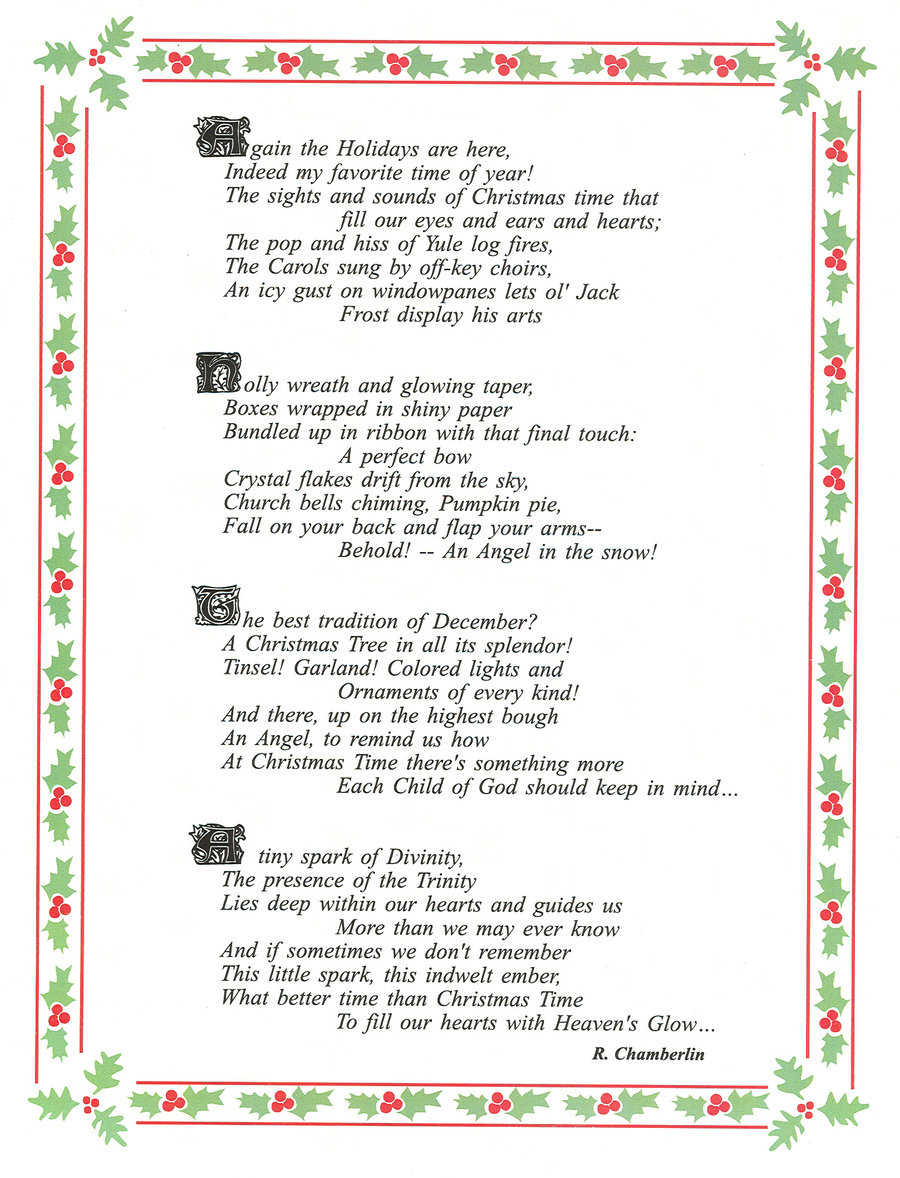 This is an image of Merry Christmas From Heaven Poem Printable regarding heaven gained angel