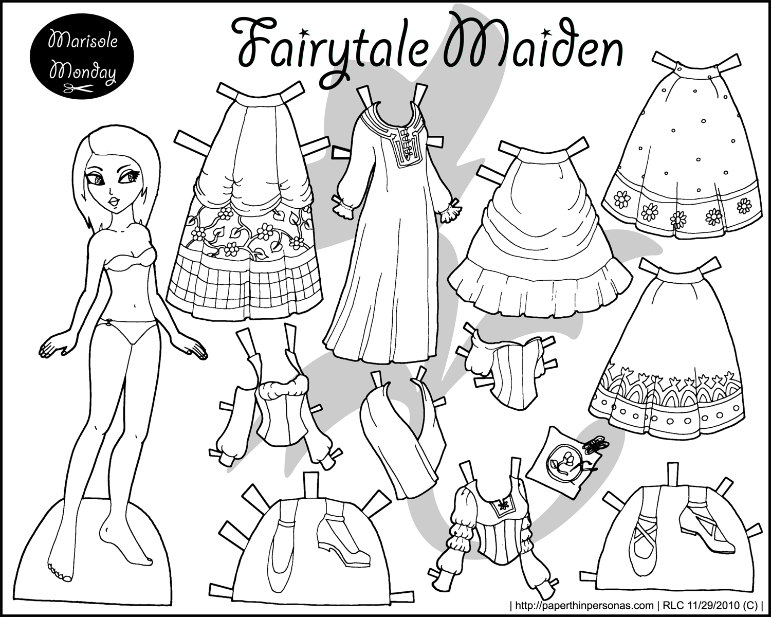7 Images of Printable Cut Out Dolls