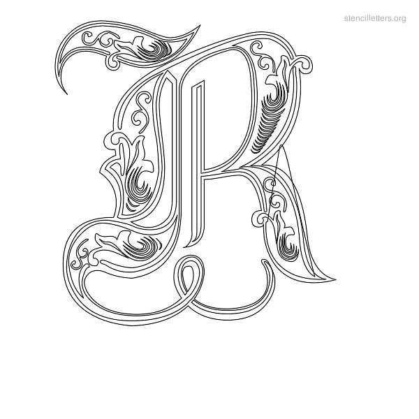 7 Images of Art Letter R Stencil Printable