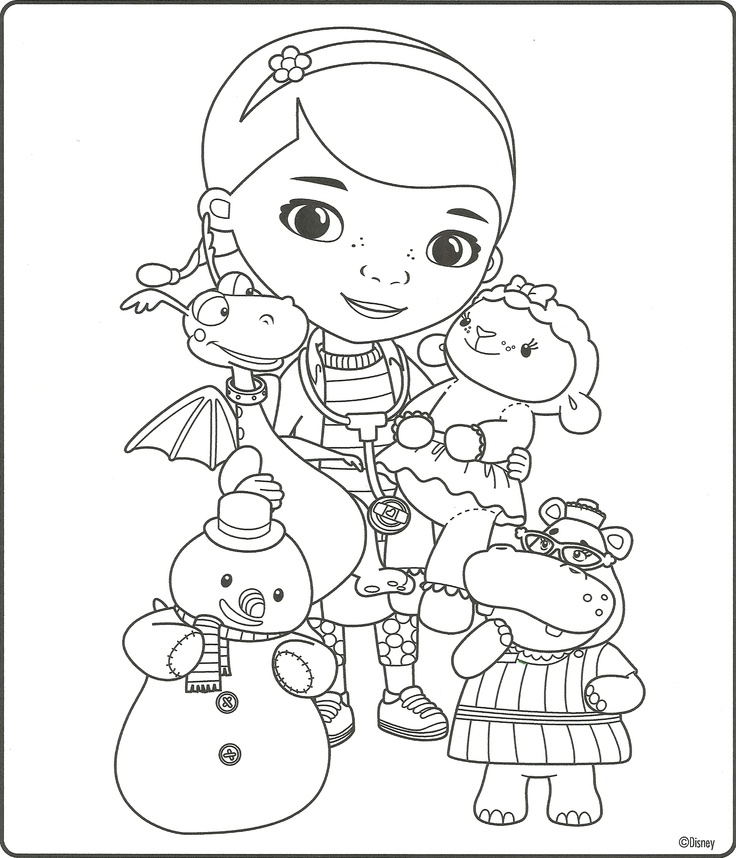 5 Images of Doc McStuffins Printable Coloring Pages