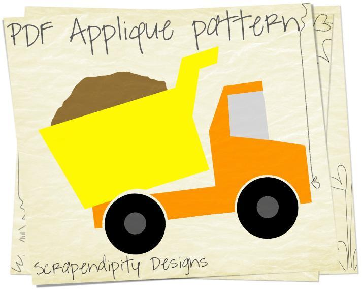 9 Images of Truck Applique Template Printable