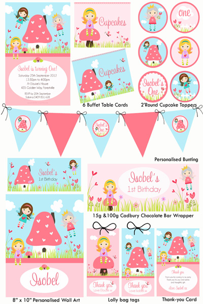 Fairy Party Invitations Printable Free