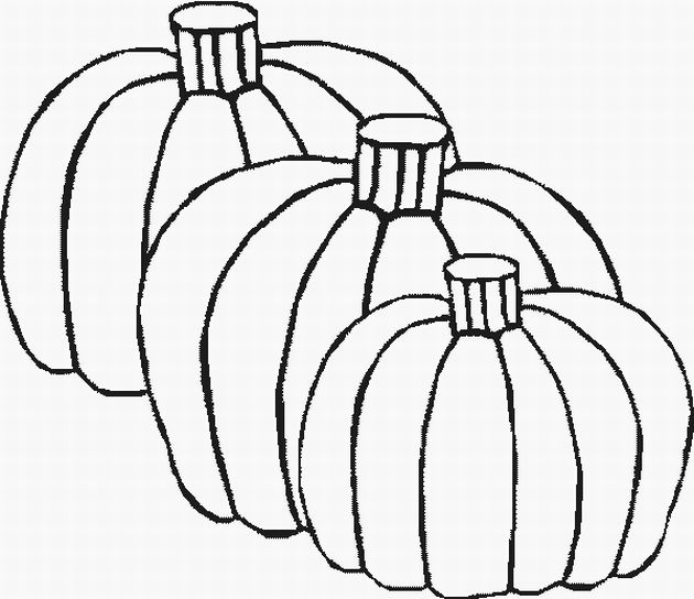 5 Images of Fall Pumpkin Coloring Printables