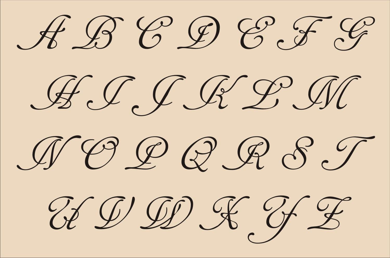 7 Images of Fancy Alphabet Letters Printable Stencils