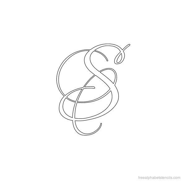 fancy alphabet letter templates - 7 best images of fancy alphabet letters printable stencils