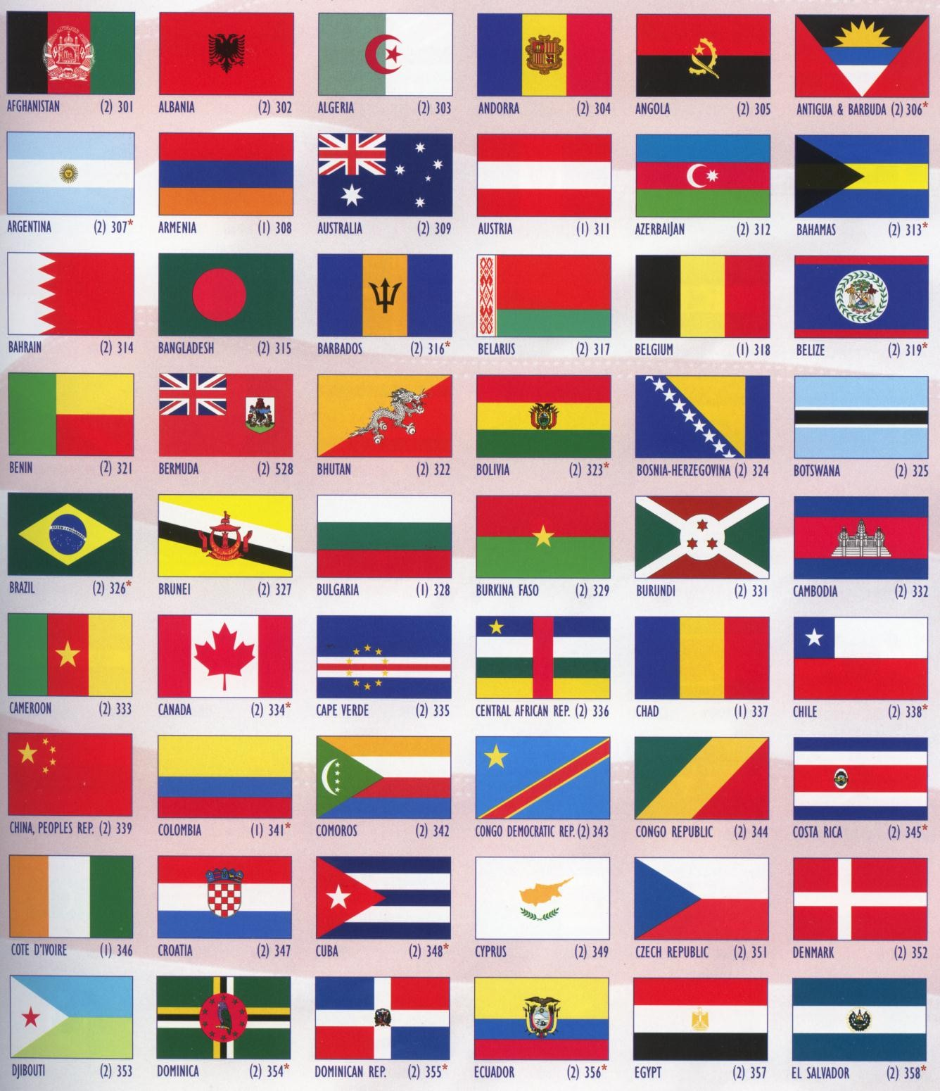6 Images of Printable International Flags