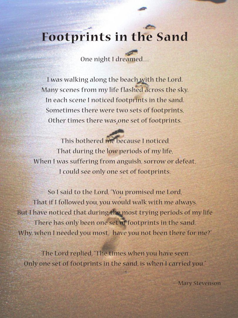 Footprints in the Sand Printable Version