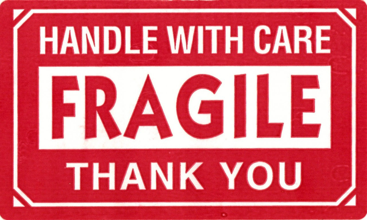 Influential image regarding printable fragile label