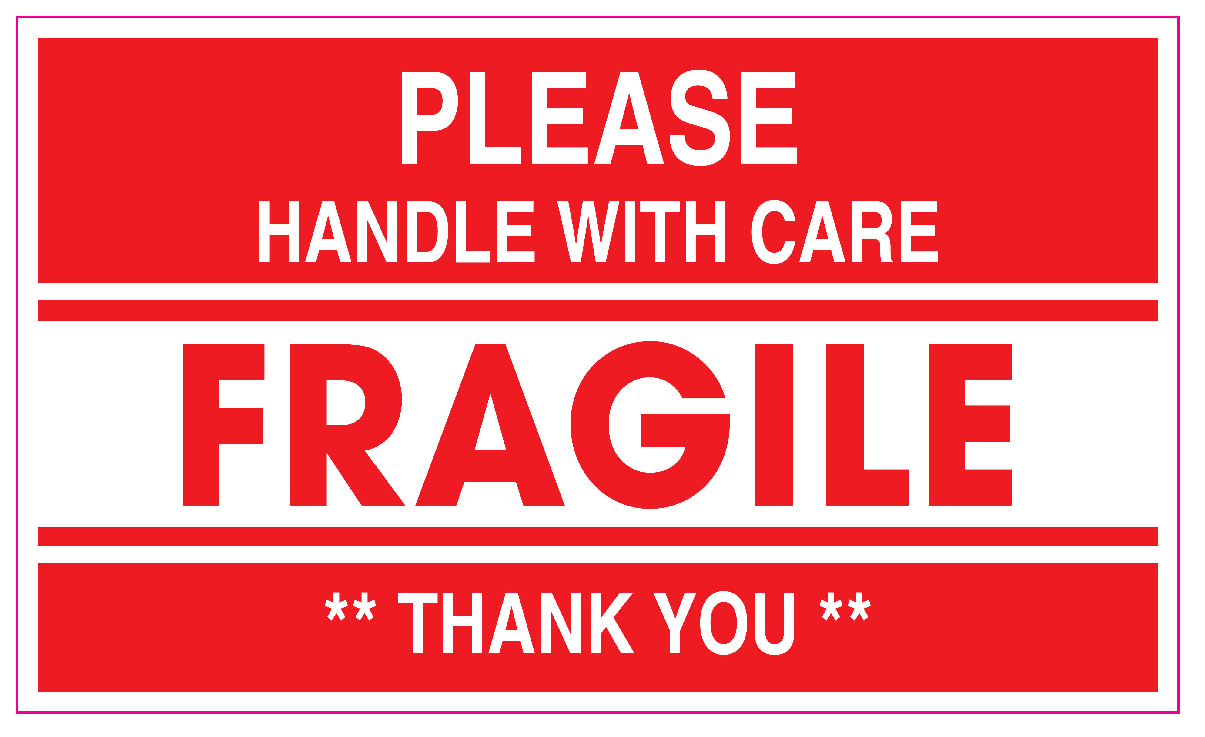 This is an image of Gorgeous Fragile Stickers Printable