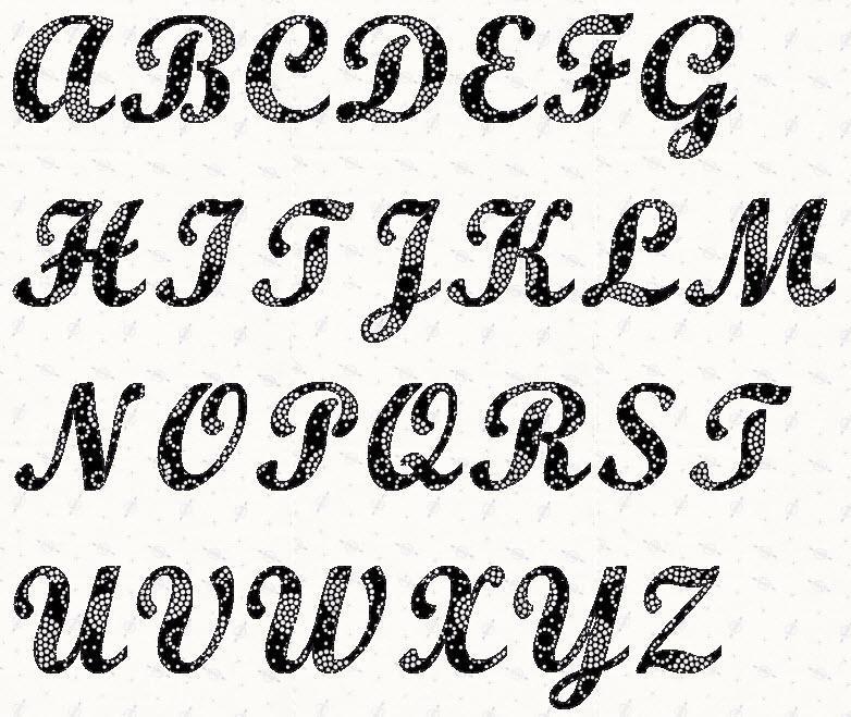 6 Images of Script Letter Stencils Printable