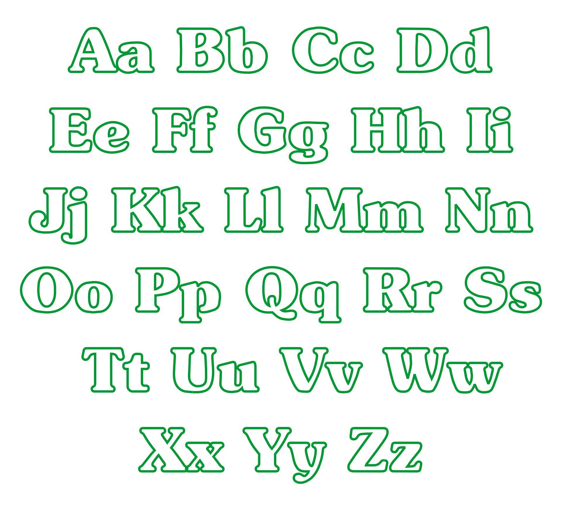 Applique Alphabet Letters