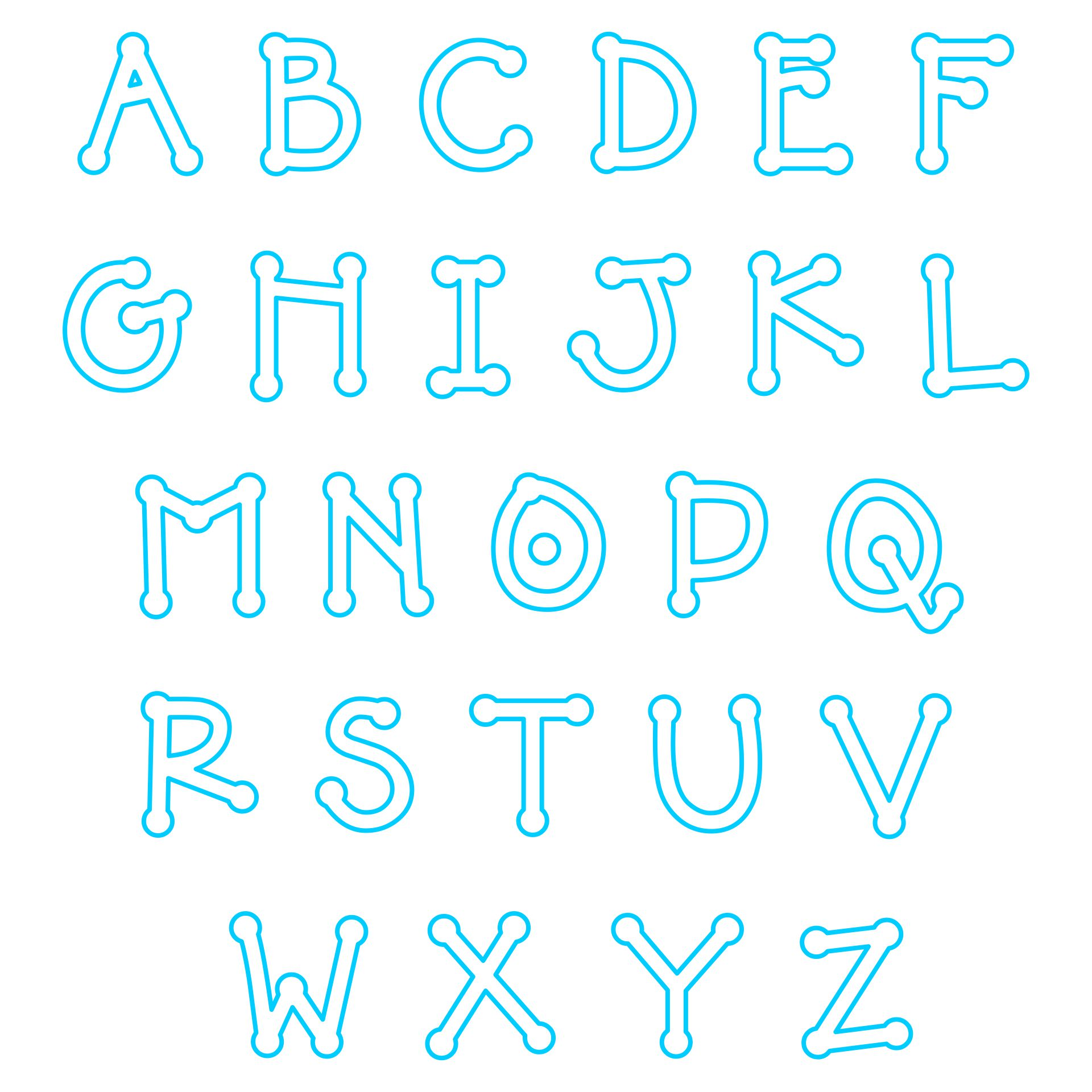 7 Best Images of Free Printable Alphabet Applique Patterns - Free Printable Alphabet Letter ...