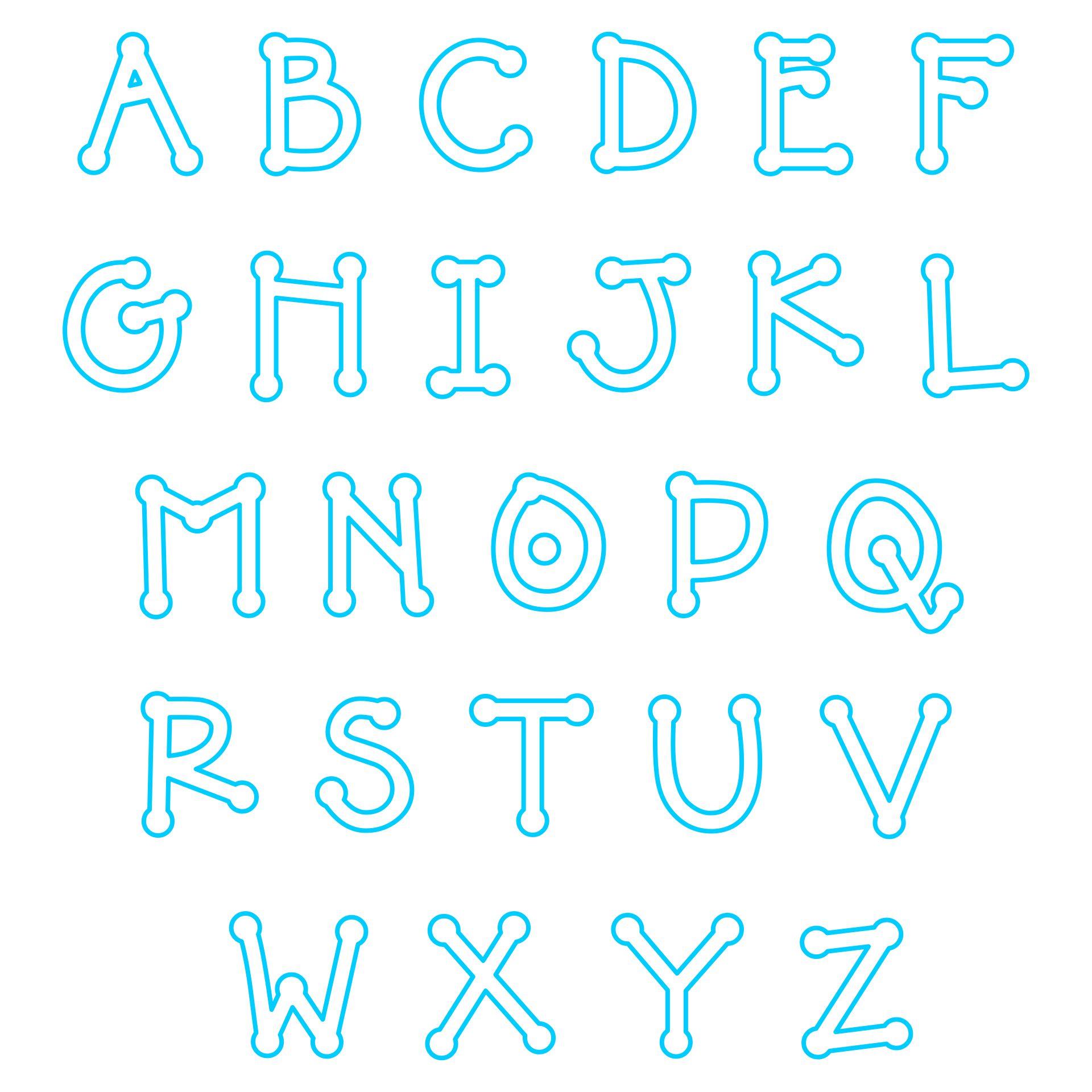 Applique Letter Designs