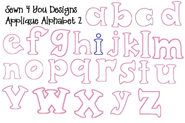 6 Images of Printable Applique Letters
