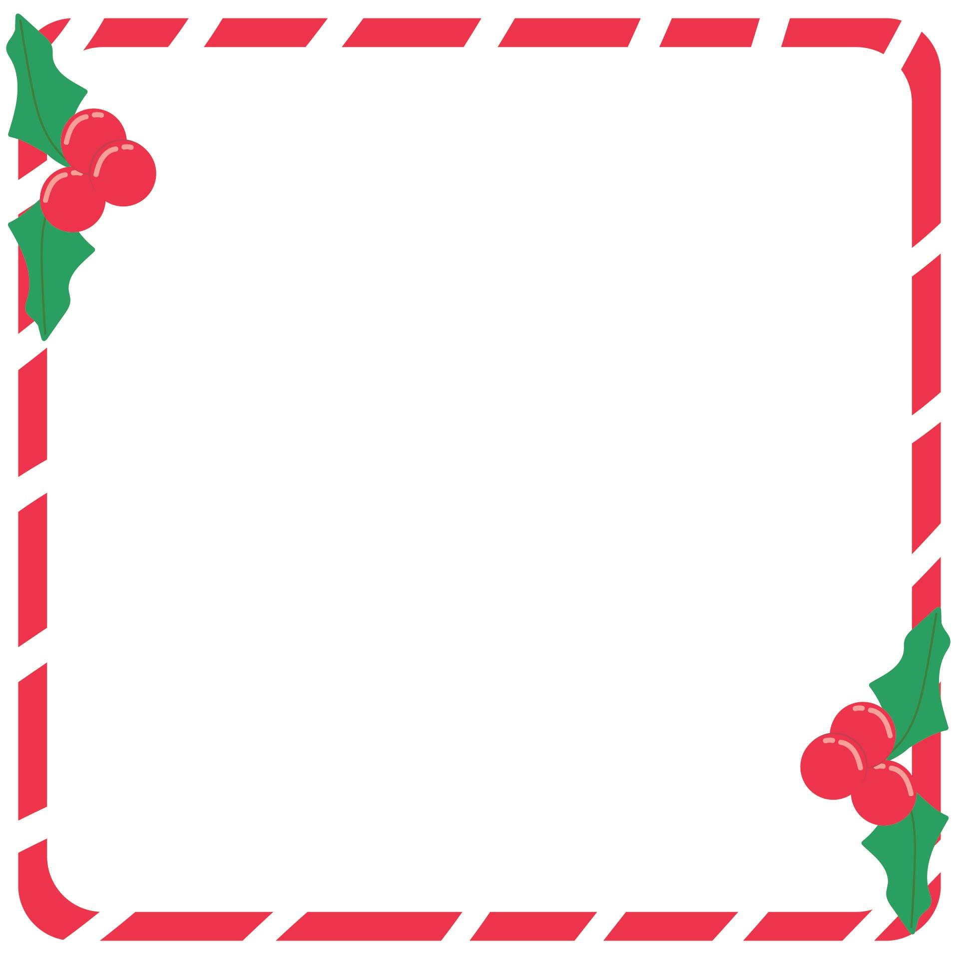 Christmas Stationery Border
