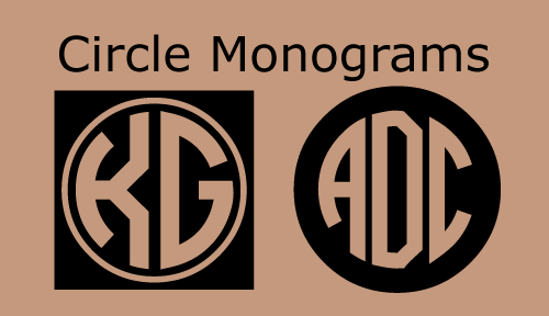 5 Best Images Of Printable Monogram Circle Free