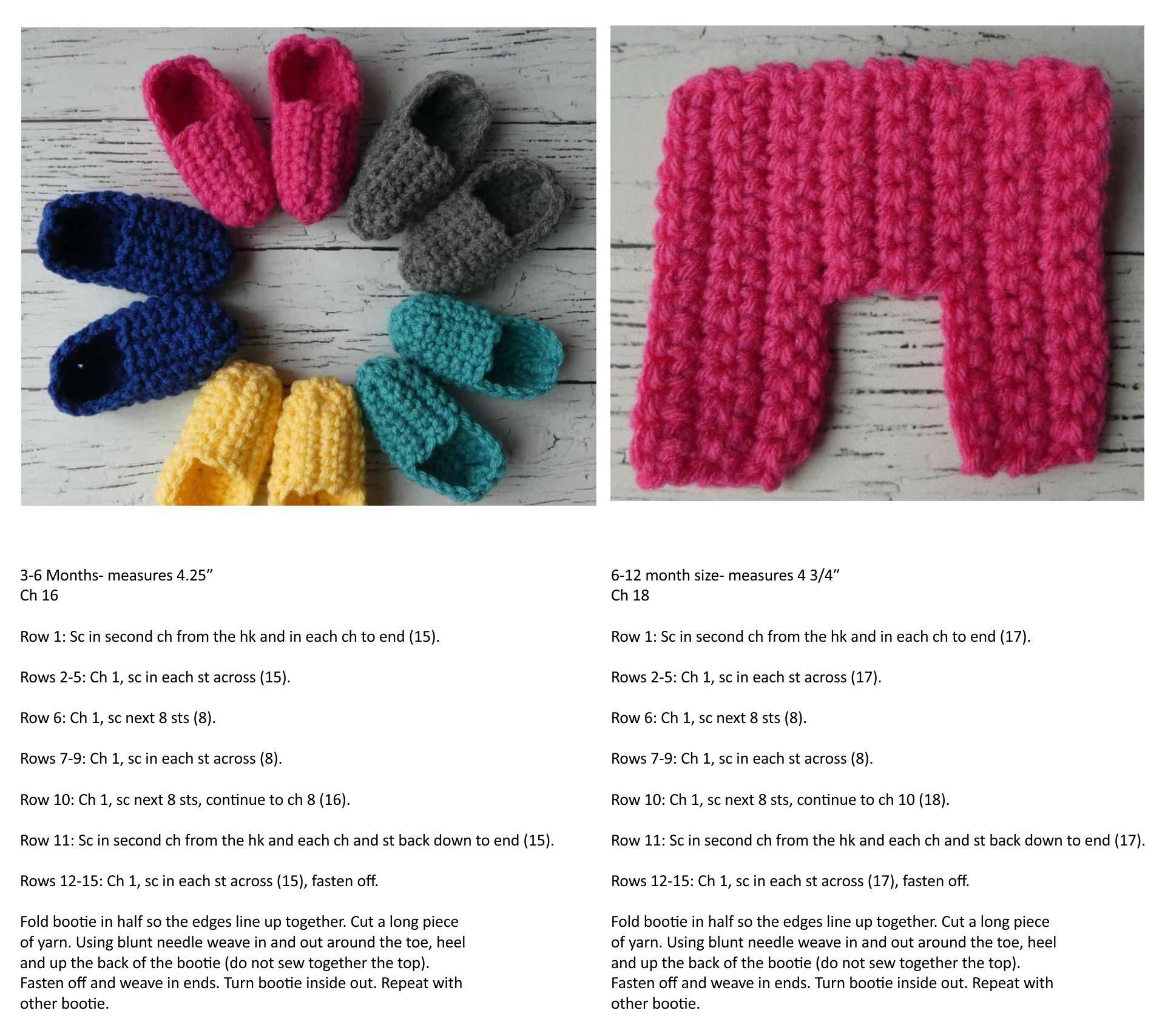 Easy Crochet Baby Booties Pattern