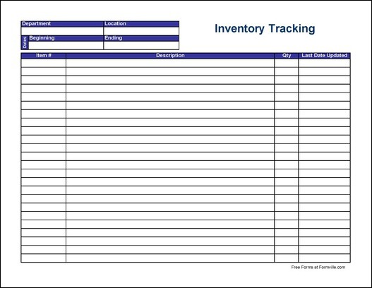 7 Images of Free Printable Inventory Forms