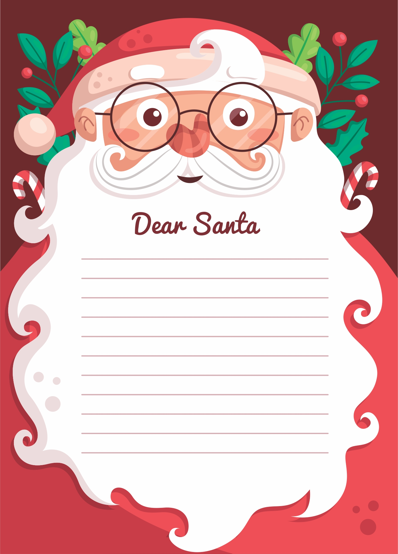 Letters From Santa Claus Template
