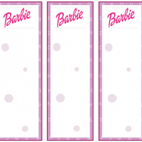 8 Images of Printable Barbie Bookmarks