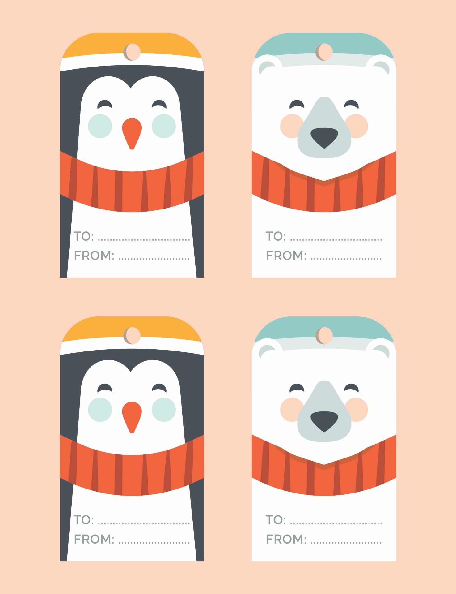 Free Tags Printable Template - Free Printable Christmas Gift Tags ...