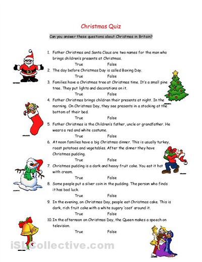Free Christmas Reading Comprehension Activities - 1st grade ...