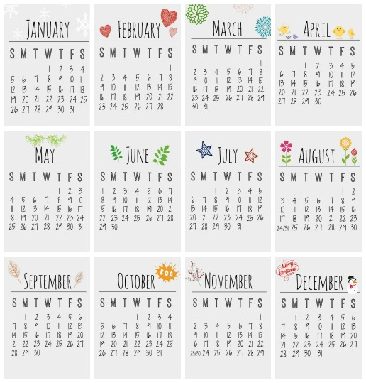 5 Images of Pretty Printable Calendar June 2014