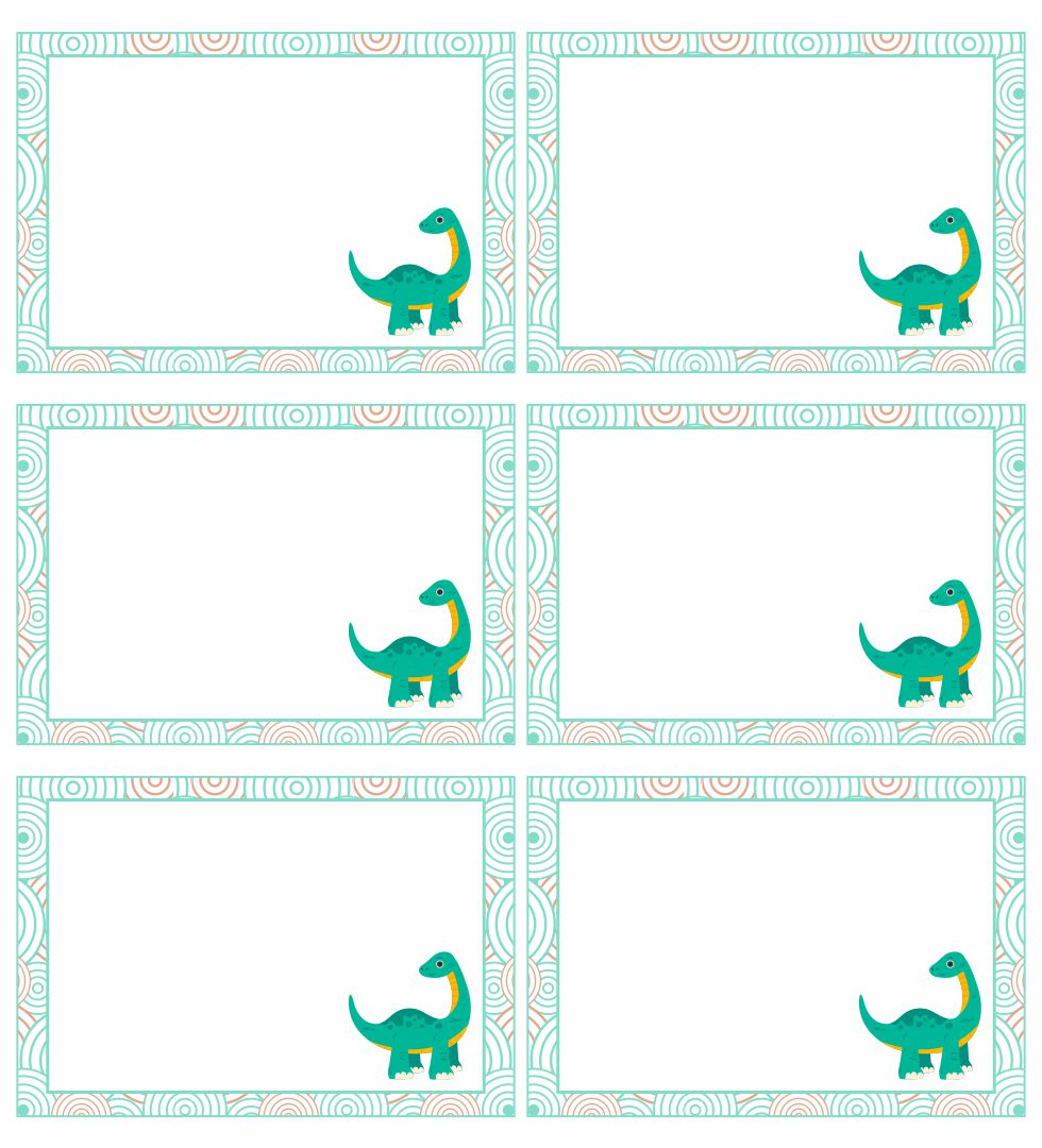 Printable Dinosaur Name Tag