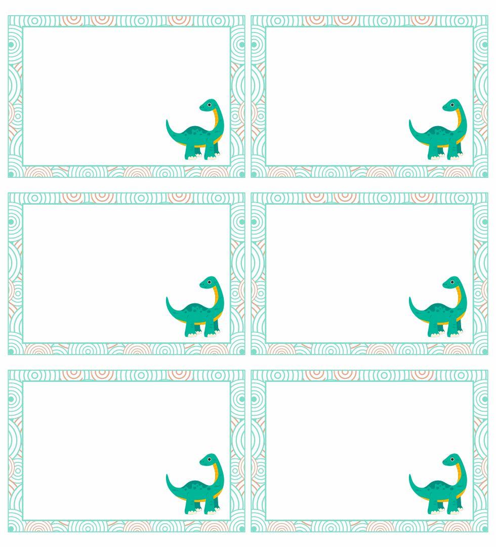 Free Printable Dinosaur Name Tag