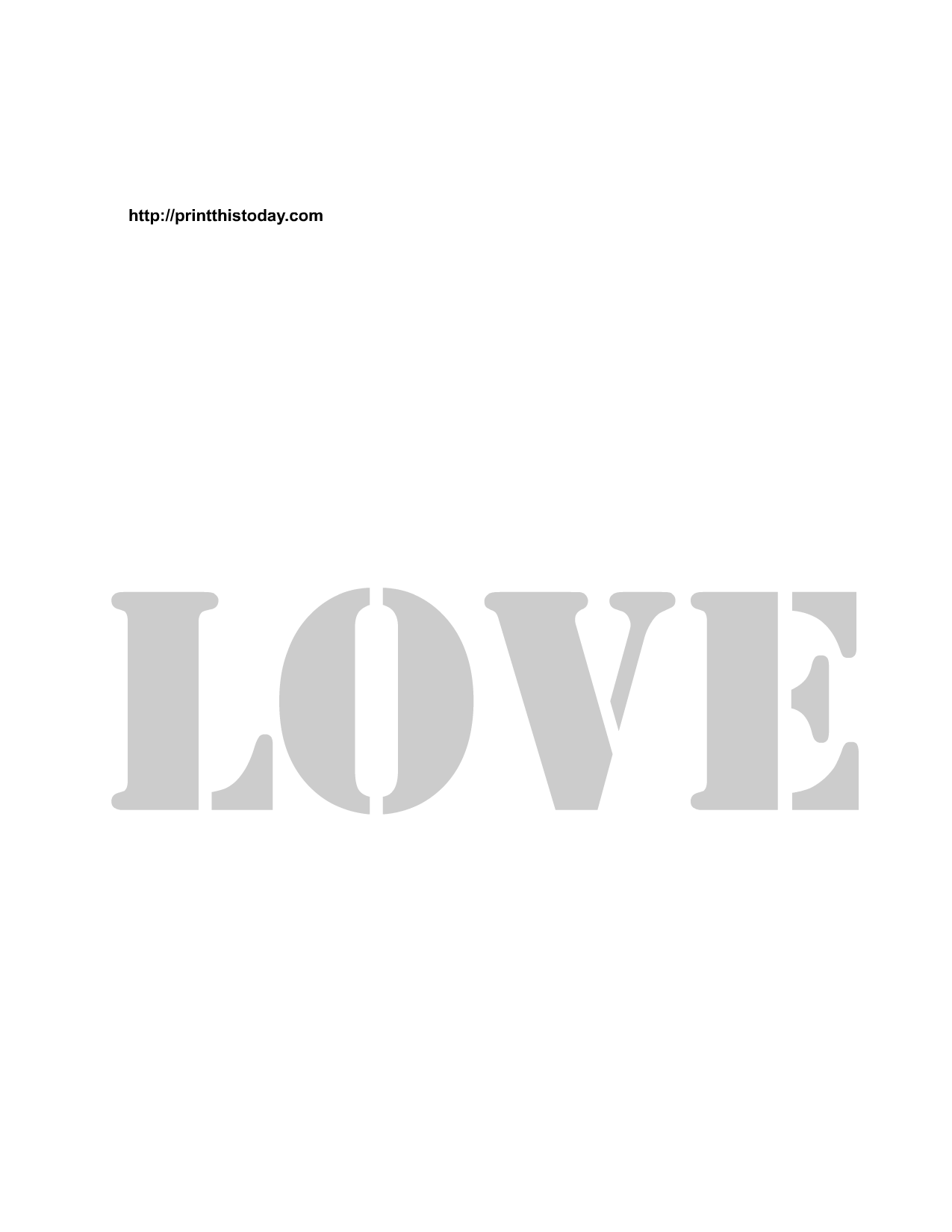6 Images of Printable Love Word Stencils