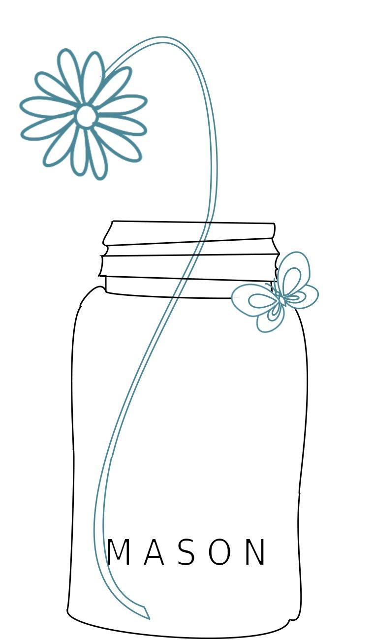 8 Images of Free Printable Mason Jar Design