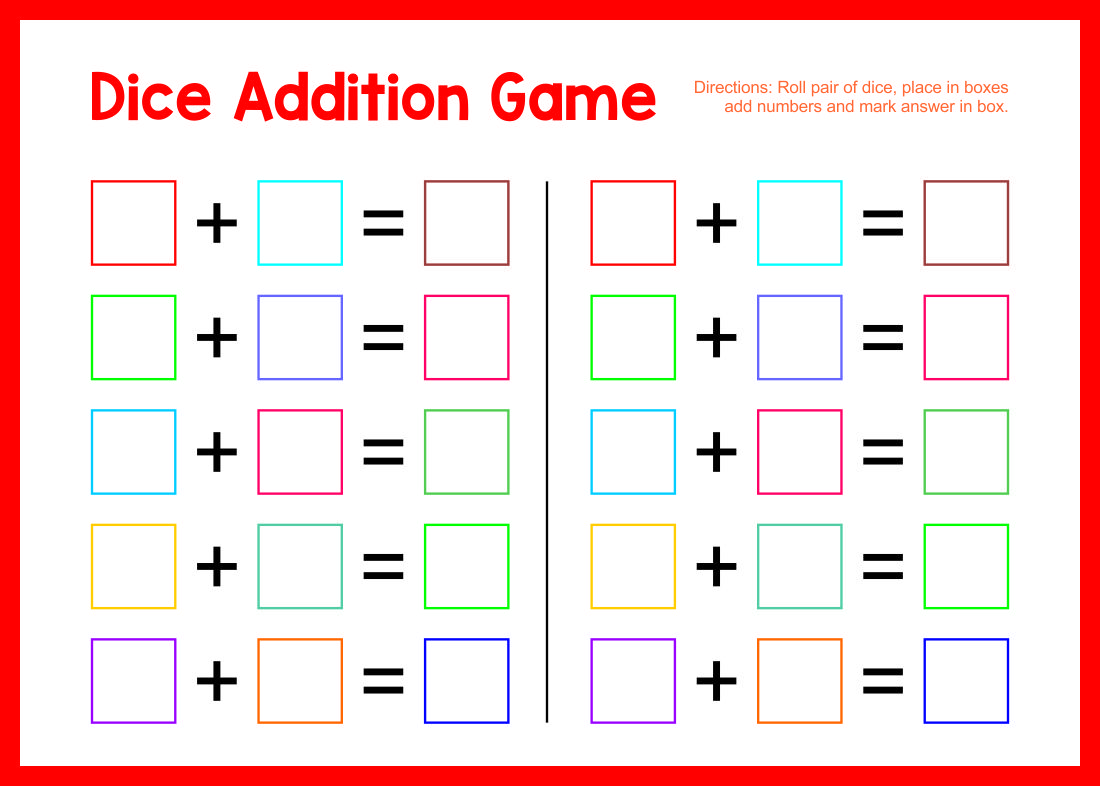 Worksheet #7681024: Math Game Worksheets – Free printable 1st and ...