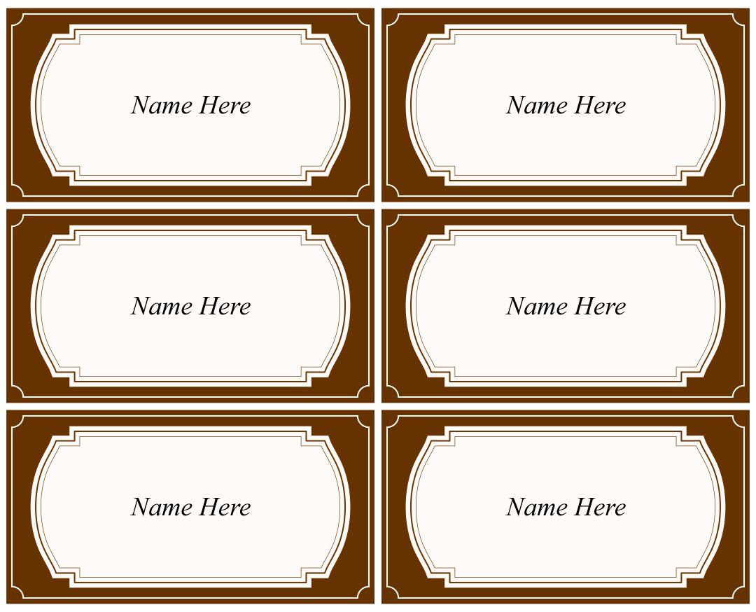 Free Printable Name Tags Templates