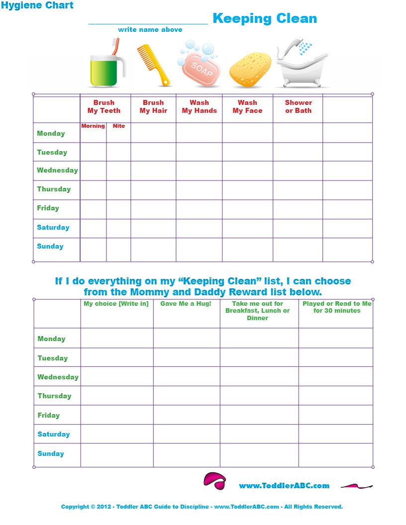 Printables Hygiene Worksheets For Adults 8 best images of printable hygiene chart personal free chart