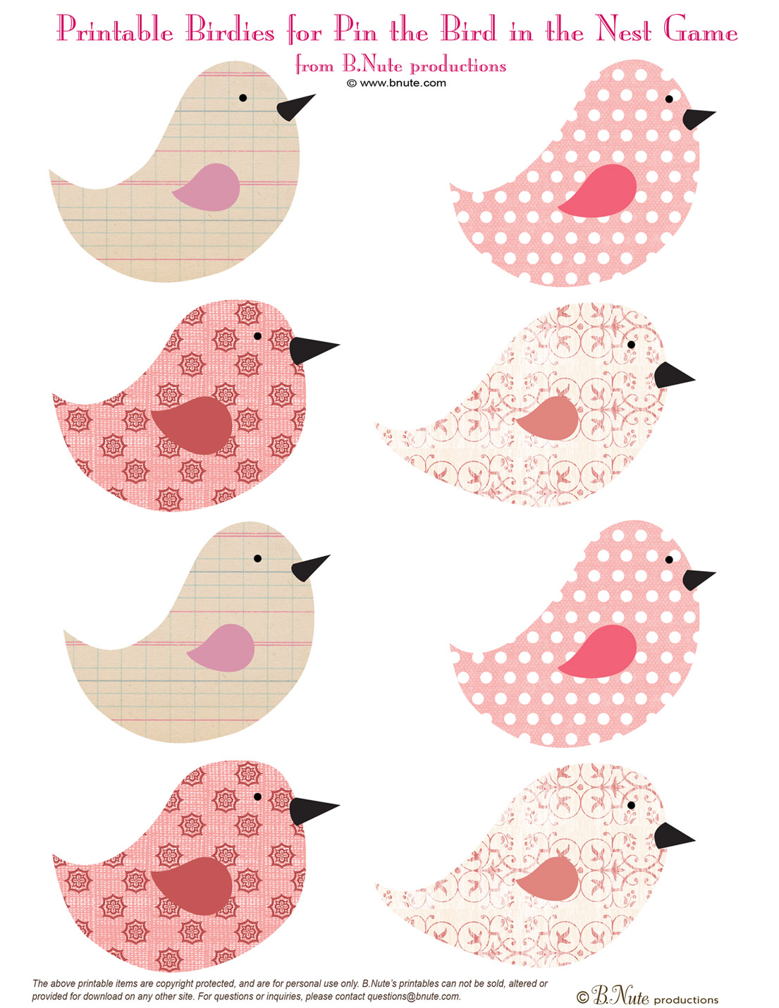 6 Images of Free Bird Printable Picture Finds