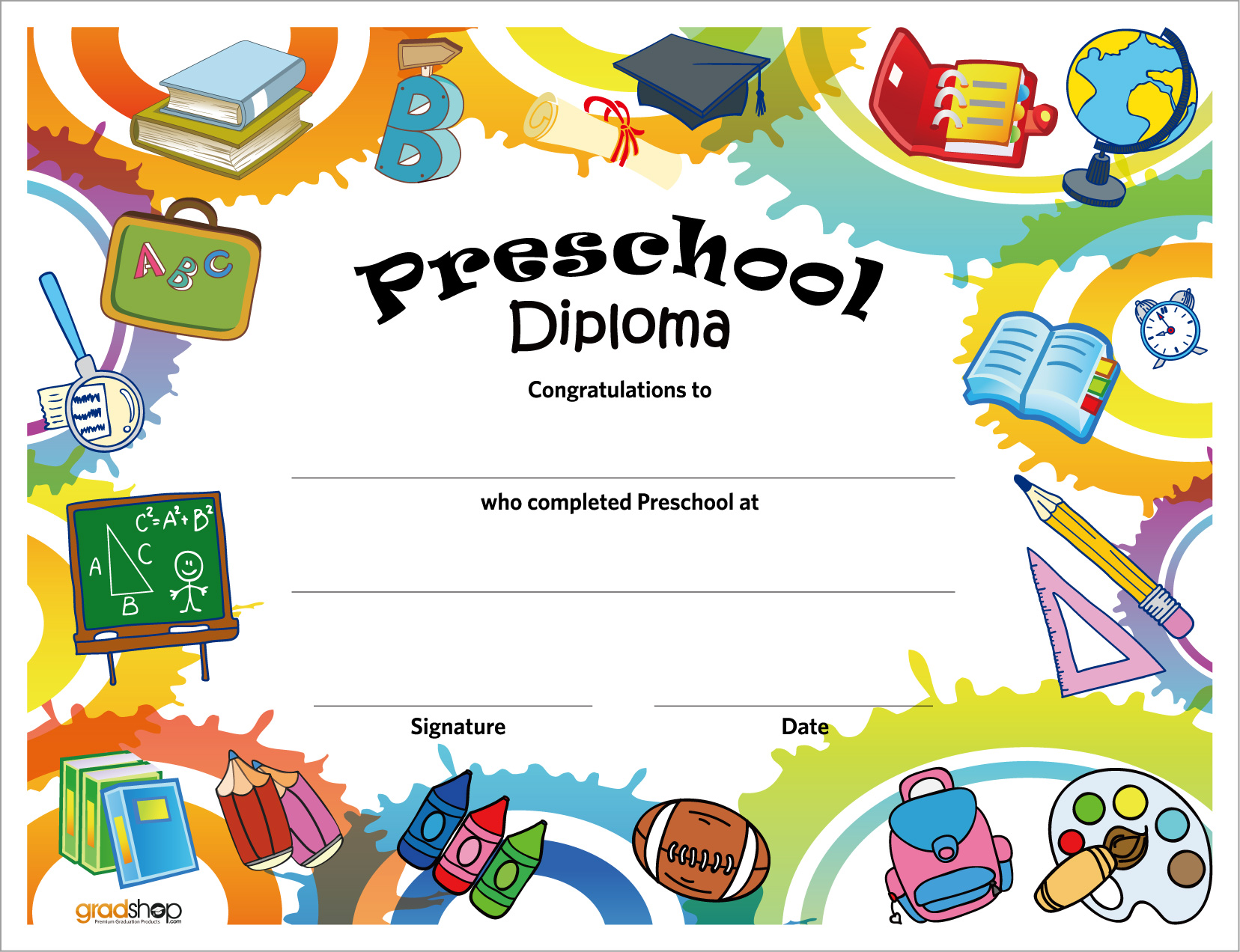 5 Images of Free Printable Preschool Diploma Certificates
