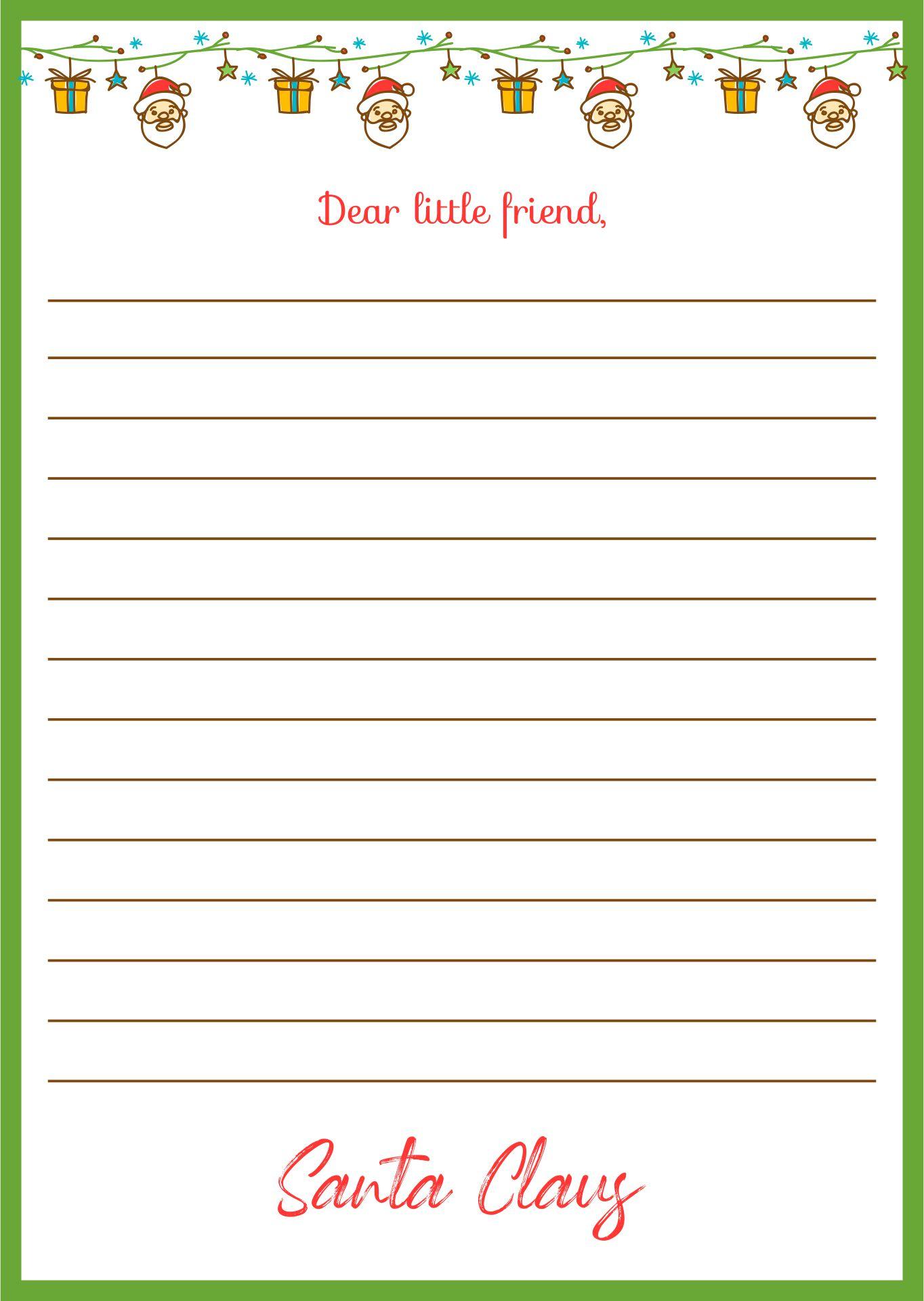 Printable Santa Claus Letter Template