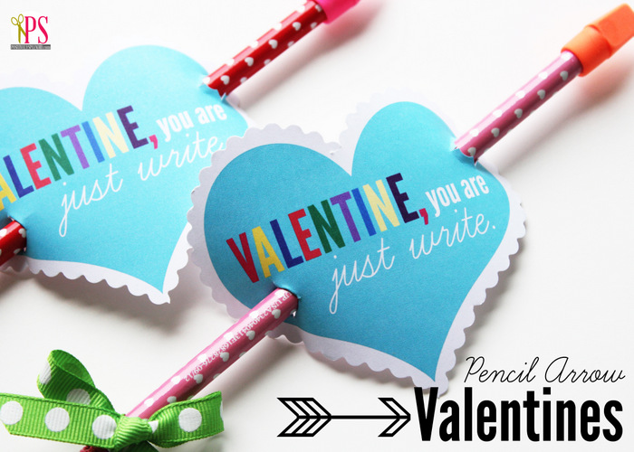 Free Printable Valentine with Pencil