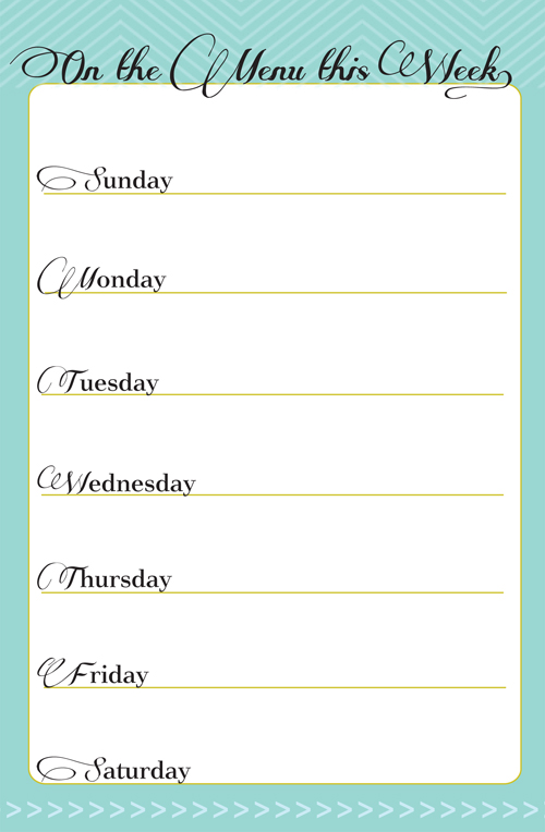 7 Images of Printable Dinner Planner