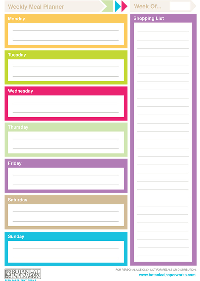 Free Printable Weekly Planner Calendars