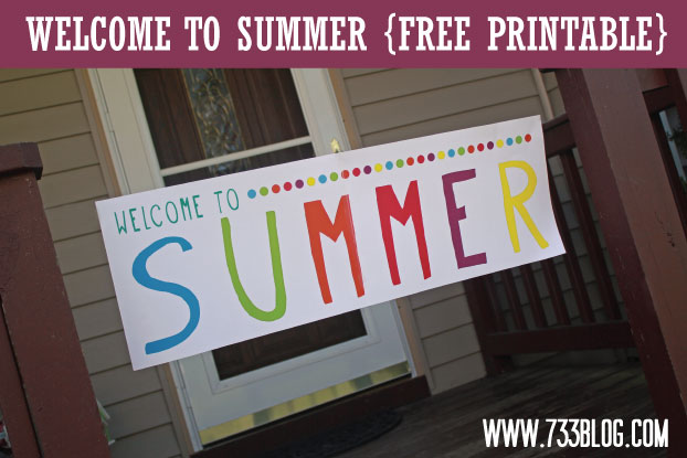 6 Images of Free Welcome Summer Banner Printable