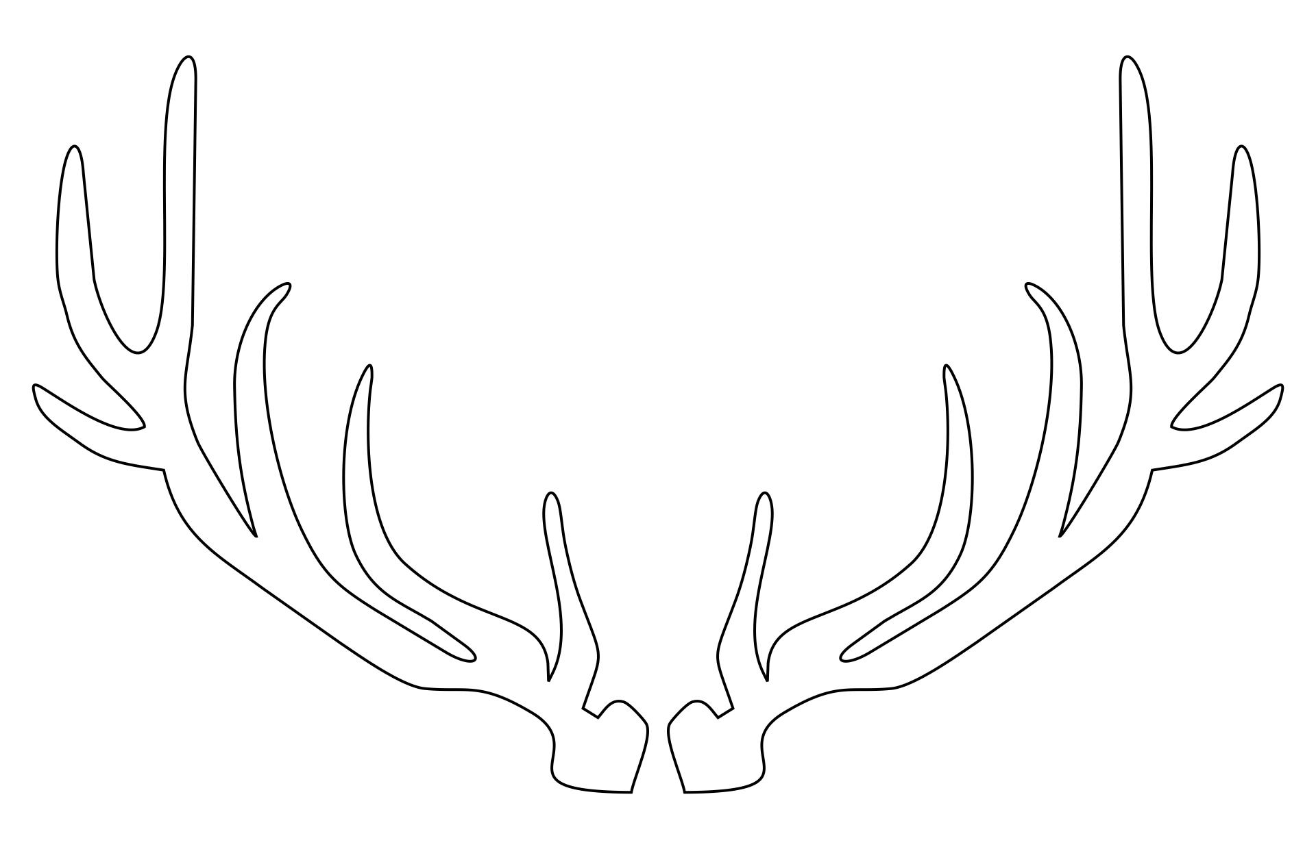 Reindeer Antler Template