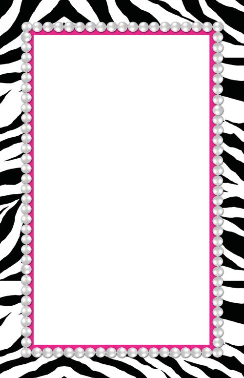 9 Images of Free Printable Zebra Paper Borders