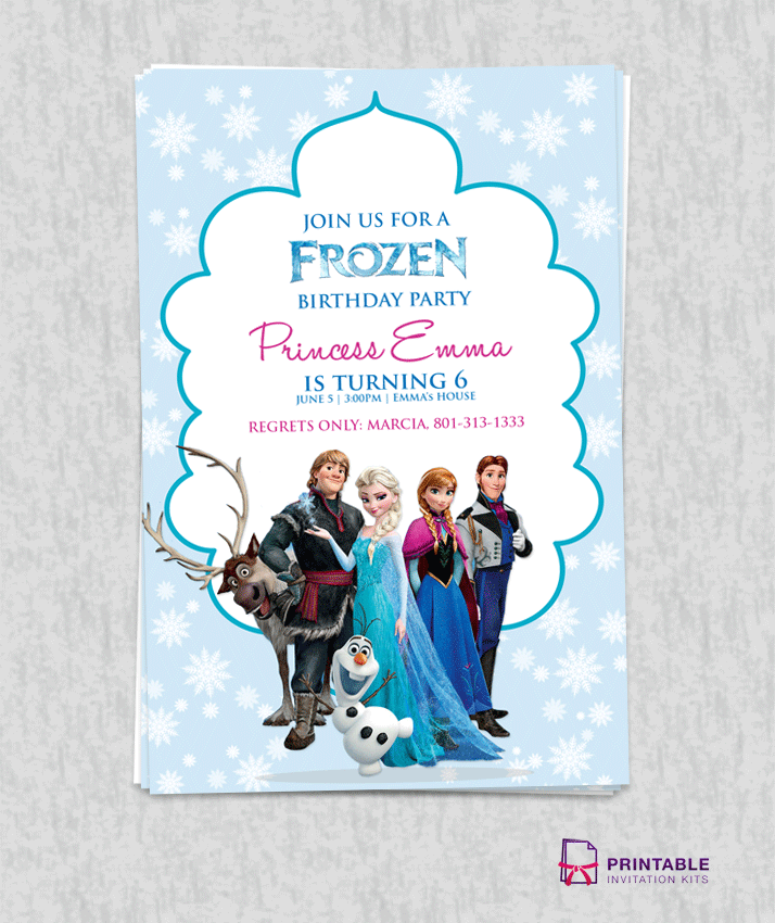 4 Images of Frozen Invitation Printable Free