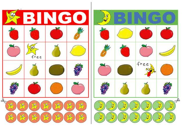 5 Images of Fruit Bingo Printables