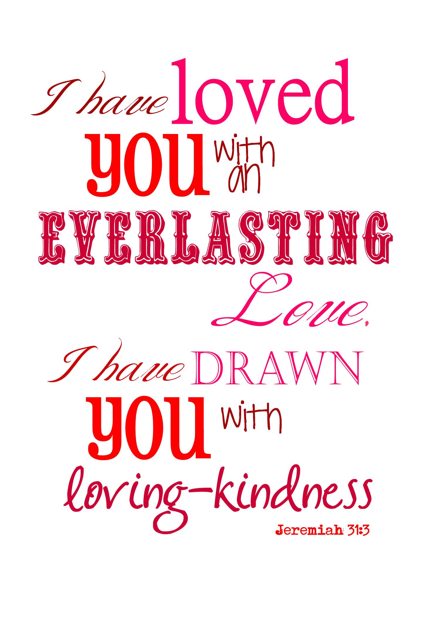 5 Images of God Loves You Valentine Printables