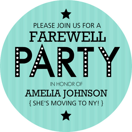 5 Images of Fare Well Party Invitation Printable
